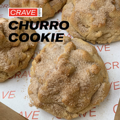 The famous Crave Churro cookie